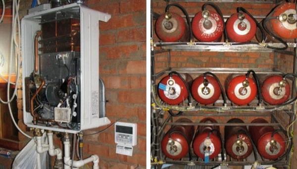 Как обустроить отопление дачного дома газовыми баллонами 4