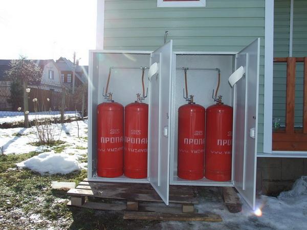Как обустроить отопление дачного дома газовыми баллонами 5
