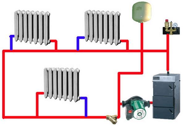 Подключаем насос в систему отопления 3