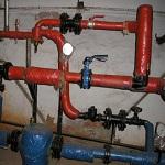 Элеваторный узел системы отопления дома 1