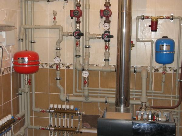 Системы отопления частного дома - фото, чертежи и схемы 2