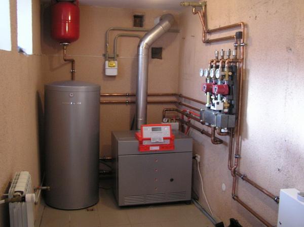 Схема отопления частного дома с принудительной циркуляцией 4