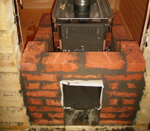 Как правильно обложить металлическую печь кирпичом в бане 2