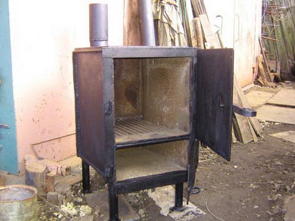 Печь для гаража своими руками – отопление гаража на дровах 4