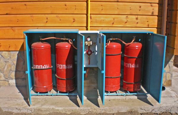 Как обустроить отопление дачного дома газовыми баллонами 2