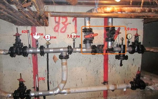 Элеваторный узел системы отопления дома 5