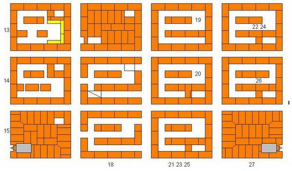 Порядовка печи Кузнецова – чертежи и схемы 4