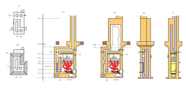 Порядовка печи Кузнецова – чертежи и схемы 5