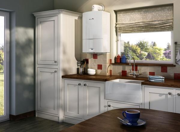 Как можно спрятать газовый котел на кухне – фото и варианты 1