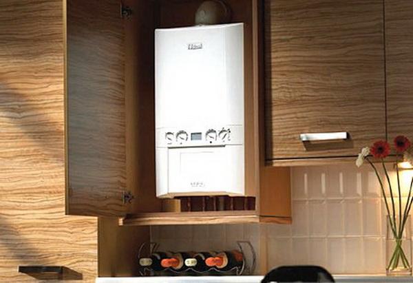 Как можно спрятать газовый котел на кухне – фото и варианты 4
