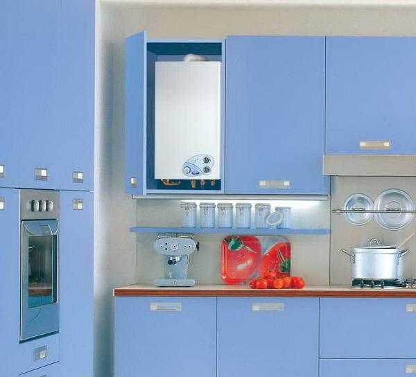 Как можно спрятать газовый котел на кухне – фото и варианты 7