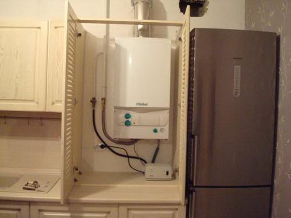 Как можно спрятать газовый котел на кухне – фото и варианты 10