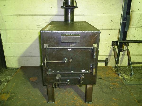 Печка в гараж своими руками - варианты на отработке, дровах, электричестве 4